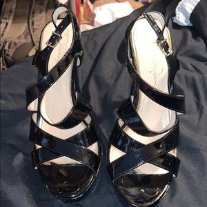 Black Jessica Simpson 4 inch heels